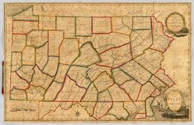 Pennsylvania State Map by Map Of The State Of Pennsylvania Howell Reading 1811