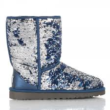 s navy ugg boots ugg navy sparkle s flat boot