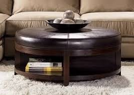 Large Ottoman Coffee Table Round Leather Ottoman Tufted Large Round Leather Ottoman Coffee