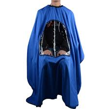 pro salon barber hair cutting gown cape with viewing window