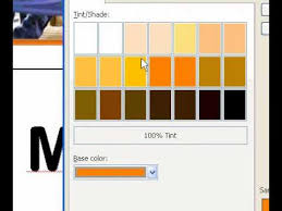 microsoft office publisher 2003 apply a shade or tint to text