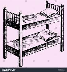 Cartoon Bunk Beds by Kids Bunk Bed Doodle Style Sketch Stock Vector 449921347