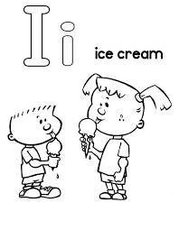 i is for ice cream coloring page coloring sky