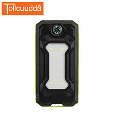 portable outdoor sports lighting 10000mah tollcuudda solar power bank dual usb outdoor sports