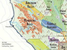 map of california wine map of california