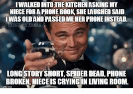 Dead Phone Meme - iwalked into the kitchen asking my niece for a phone book she