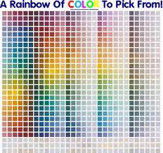interior paint colors chart