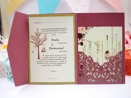 tri fold invitations 2017 new style envelope burgundy tri fold laser