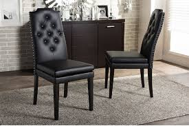 Black Dining Chairs Black Leather Dining Chairs Furniture Wax The