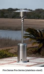 fire sense stainless steel patio heater with adjustable table compare fire sense patio heaters fire sense commercial vs fire