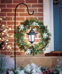 solar stake lantern wreath yard decor ho ho ho