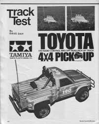 vintage toyota truck tamiya toyota 4 4 pick up u2013 1982 classic and vintage rc cars