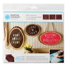 martha stewart crafts adhesive silkscreens striped alphabet