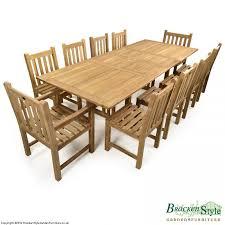 10 seater teak garden table set