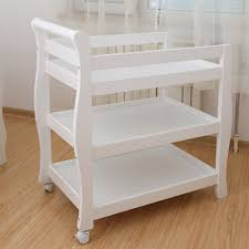 Sleigh Changing Table White New Zealand Pine 3 In 1 Baby Sleigh Cot Change Table Dresser