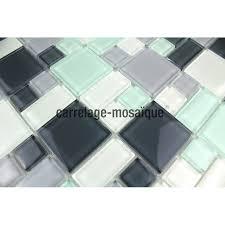faience en verre pour cuisine mosaique carrelage verre 1 plaque domino pinchard