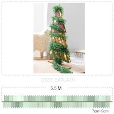 aliexpress com buy wicker 5 5m christmas party xmas tree leaves