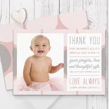 baptism thank you wording beautiful baptism christening thank you cards printed both sides