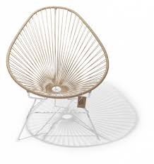 fauteuil en corde fauteuil acapulco beige cadre blanc le fauteuil acapulco