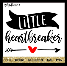 little heartbreaker cricut silhouettes and filing