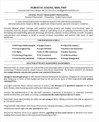 Disney Resume Example by Project Management Resume Example 10 Free Word Pdf Documents