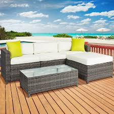 Best Outdoor Furniture by Amazon Com Best Choice Products 5pc Rattan Wicker Sofa Set