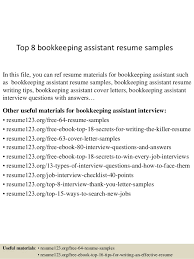 bookkeeper sample resume bookkeeper cover letter examples for