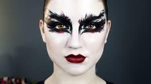 black swan halloween makeup
