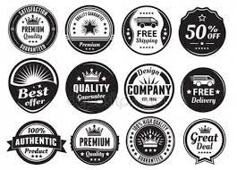 design a vintage logo free vintage logo badges 1 stock vector joyojojo 64845959