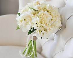 hydrangea bouquet silk bouquet etsy