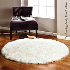Imitation Sheepskin Rugs Amazon Com Fur Accents Round Bearskin Rug Fake Polar Bear
