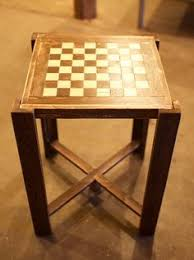 Chess Table Hand Painted Vintage Chess Table Removable By Hand Painted Chess