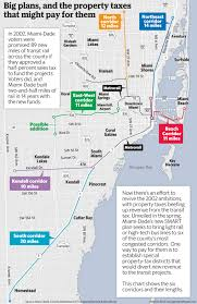 Miami Beach Bus Map For Miami Dade Rail Expansion Leaders Eye Property Taxes Miami
