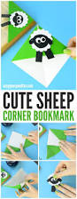 sheep corner bookmark origami for kids easy peasy and fun