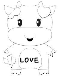 cartoon cow valentine coloring page h u0026 m coloring pages