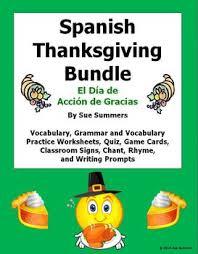 thanksgiving bundle el dia de accion de gracias by sue
