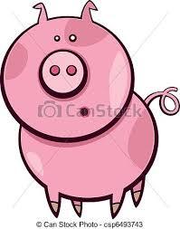 vectors cartoon pig cartoon illustration funny surprised