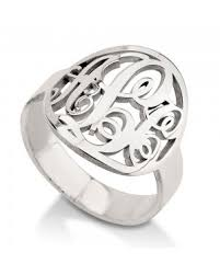 Monogram Rings Silver Monogram Rings The Name Necklace