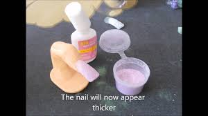 brush on glue acrylic powder quick nails youtube