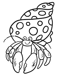 Hermit Crab Coloring Pages Coloringstar Crab Coloring Page