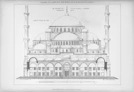 royal courts of justice floor plan structure and form of the mosque blue mosque sultanahmet camii