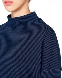 ottoman knit sweater dark blue benetton