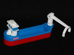 1 15 sold fisher price geotrax marina bridge barge boat ship geo trax