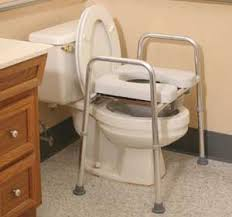 Commode Chair Over Toilet Padded 4 In 1 Commode Raised Toilet Seat With Pail U0026 Splash