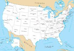 map of us states and capitals geography for united states