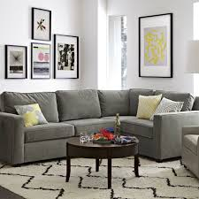 Sectional Gray Sofa Henry 3 Sectional West Elm