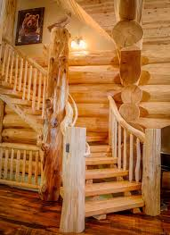 Log Home Pictures Interior 2013 Parade Home Moose Ridge Cabin Log Home Rustic Staircase