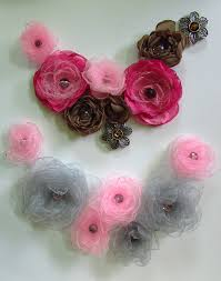 silk flower silk flower necklace tutorial