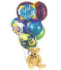 get well soon and balloons growerflowers get well soon teddy balloons