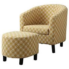 Accent Chair And Ottoman Monarch Specialties Burnt Yellow Circular Fabric